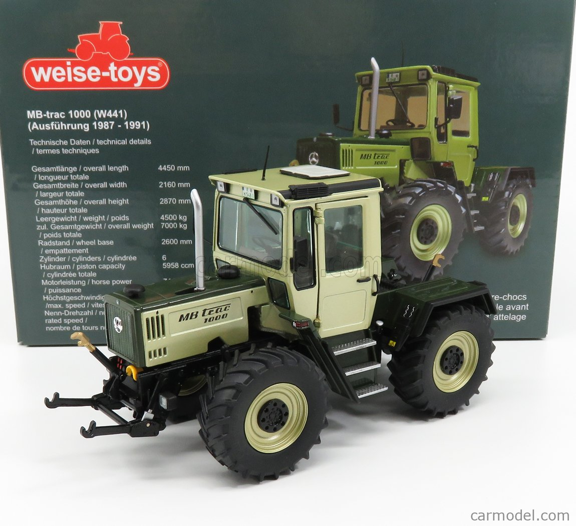 WEISE-TOYS 1043 Scale 1/32  MERCEDES BENZ MB-TRAC 1000 TRACTOR 1983 GOLD GREEN