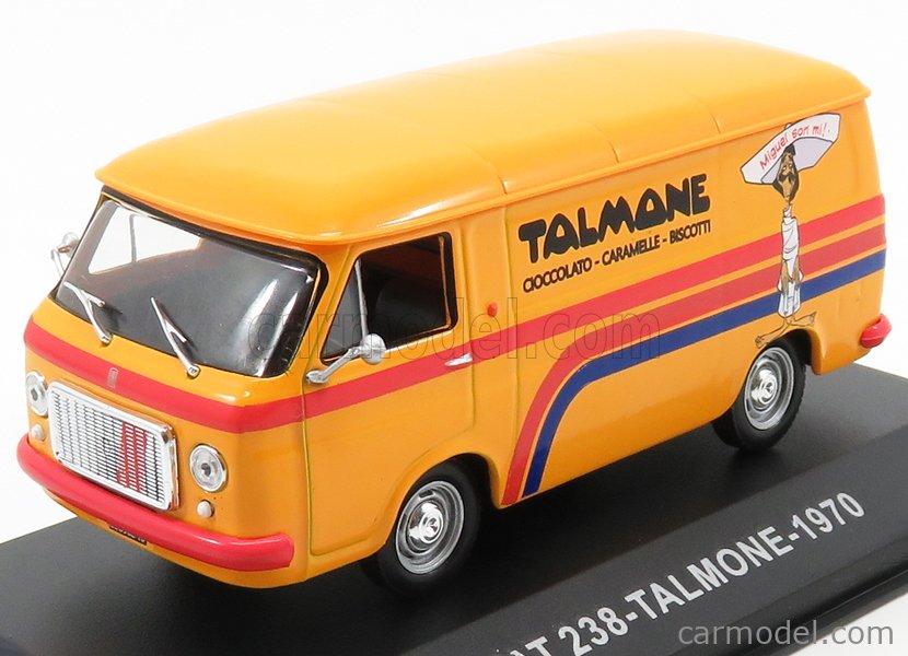 EDICOLA VCDE014 Echelle 1/43  FIAT 238 VAN TALMONE 1970 YELLOW RED