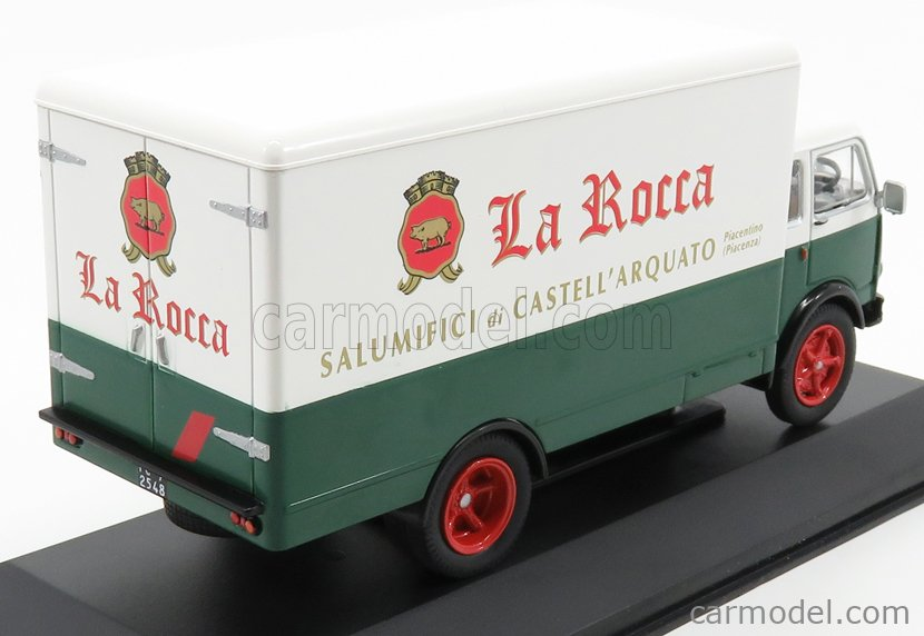 EDICOLA VCDE012 Scala 1/43  OM FIAT TIGROTTO TRUCK FRIGORIFERO LA ROCCA SALUMIFICI 1963 GREEN WHITE