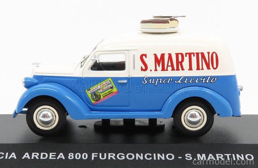 EDICOLA VCDE007 Echelle 1/43  LANCIA ARDEA 800 VAN SAN MARTINO SUPER LIEVITO 1949 LIGHT BLUE BEIGE