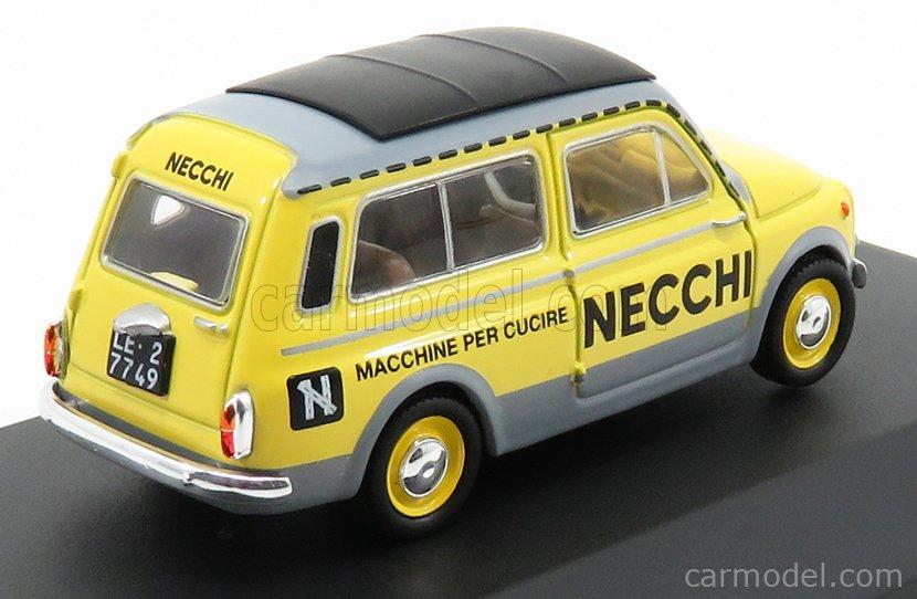 EDICOLA VCDE013 Echelle 1/43  FIAT 500 GIARDINIERA - NECCHI 1960 YELLOW GREY