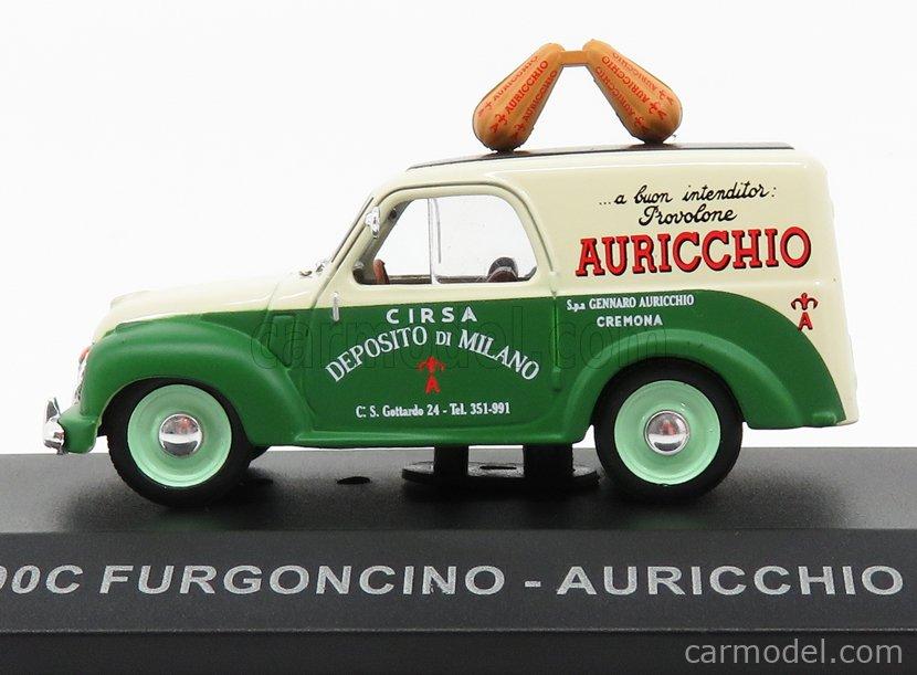 EDICOLA VCDE011 Echelle 1/43  FIAT 500C VAN AURICCHIO 1951 GREEN CREAM