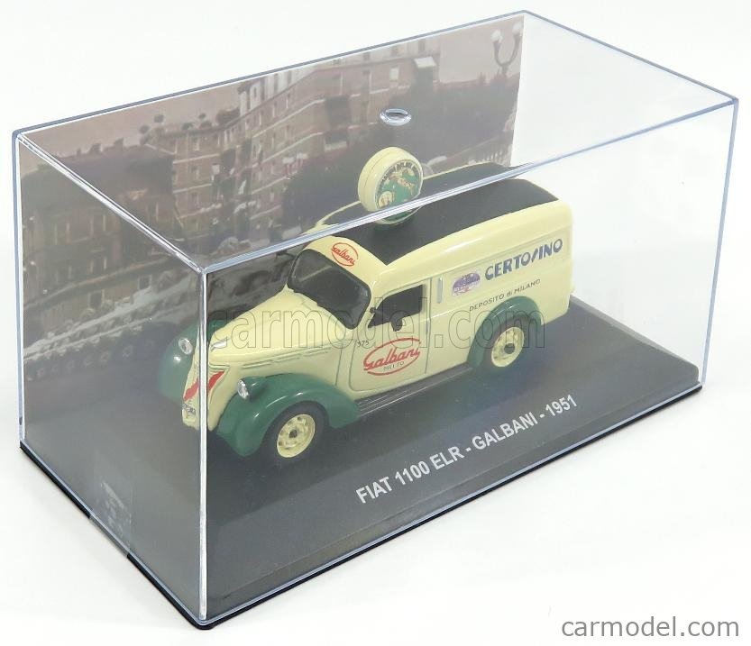 EDICOLA VCDE001 Echelle 1/43  FIAT 1100 ELR VAN GALBANI CERTOSINO DEPOSITO DI MILANO 1951 CREAM GREEN