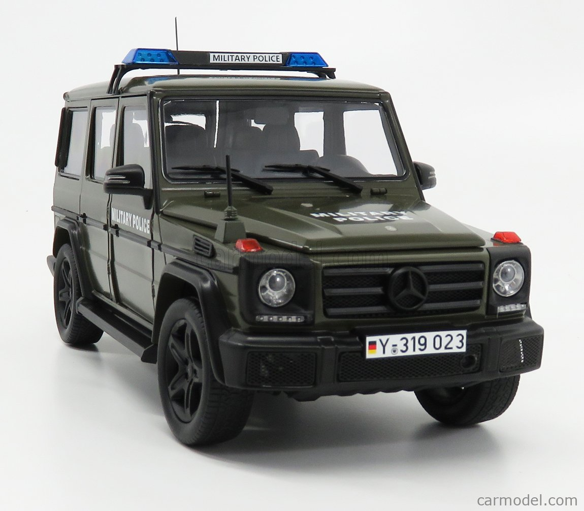 I-SCALE 118000000044 Echelle 1/18  MERCEDES BENZ G-CLASS (W463) MILITARY POLICE 2015 MILITARY GREEN