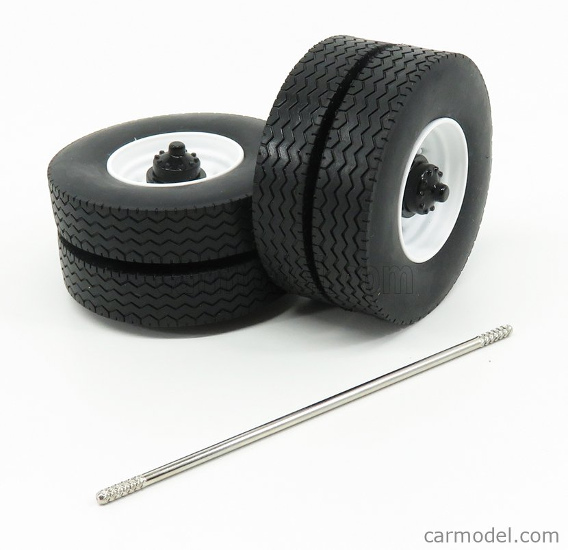 ROAD-KINGS RK18A007 Scale 1/18  ACCESSORIES SET 4X WHEELS-TYRES WITH AXLE WHITE BLACK