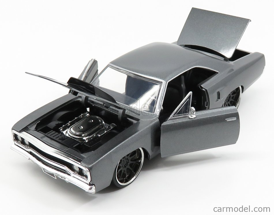 JADA 30745 Echelle 1/24  PLYMOUTH DOM'S CHARGER ROAD RUNNER 1970 - FAST & FURIOUS III TOKYO DRIFT (2006) PRIMER GREY