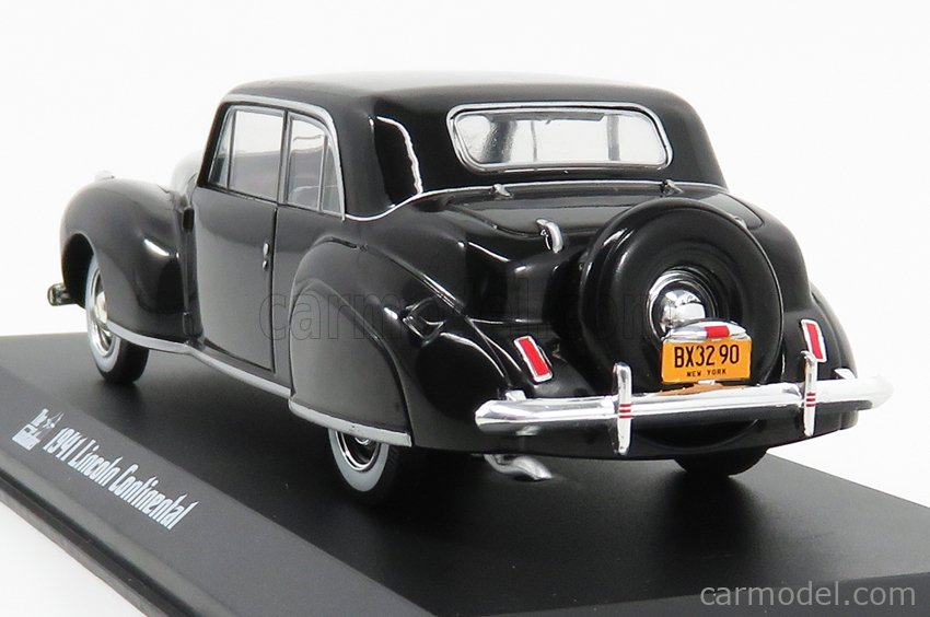 GREENLIGHT 86552 Scale 1/43  LINCOLN CONTINENTAL 1941 - WITH IL PADRINO FIGURE - THE GODFATHER 1972 BLACK