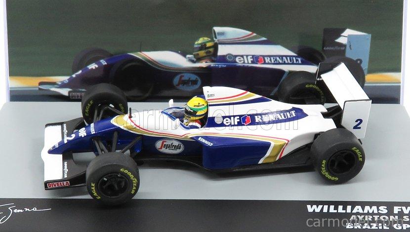 EDICOLA F1BRACOL019-33067 Scale 1/43  WILLIAMS F1  FW16 TEAM ROTHMANS RENAULT N 2 BRAZILIAN GP 1994 AYRTON SENNA WHITE BLUE