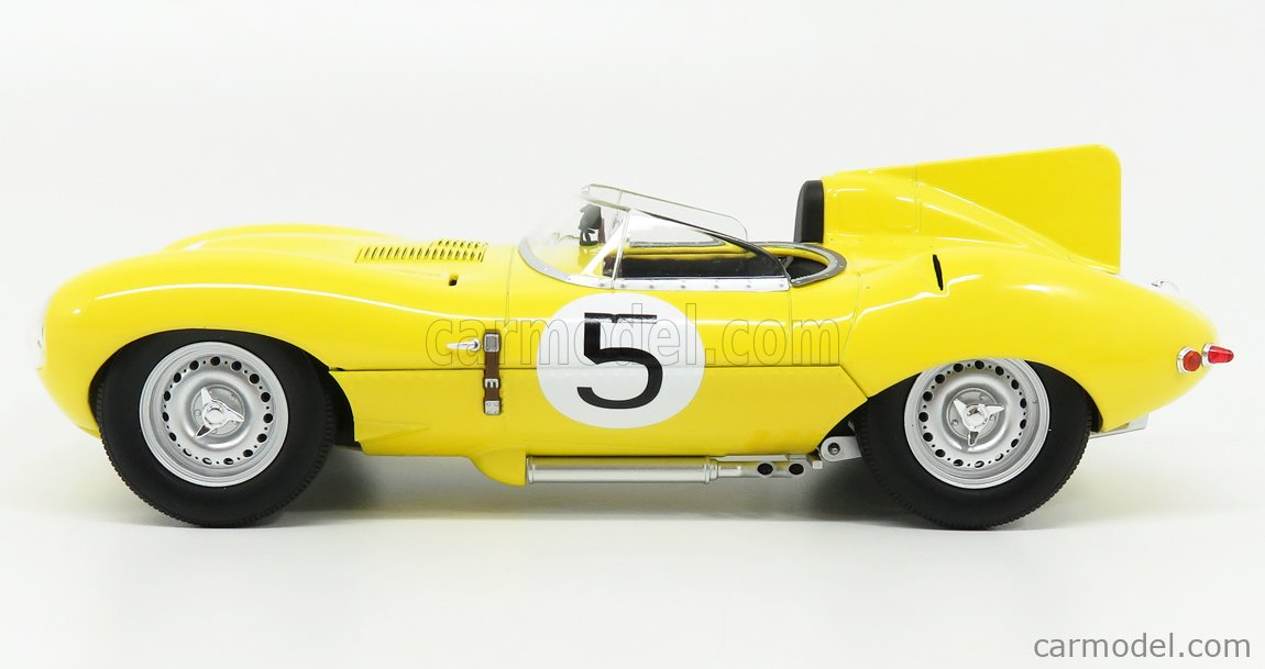 CMR CMR143 Scale 1/18  JAGUAR D-TYPE 3.4L S6 TEAM NATIONALE BELGE N 5 4th 24h LE MANS 1956 J.SWATERS - F.ROUSSELLE YELLOW