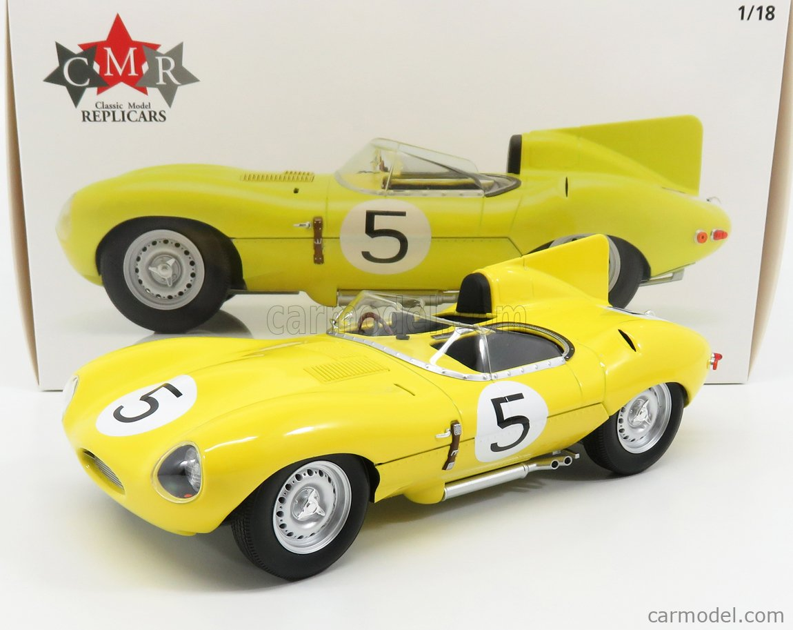 CMR CMR143 Echelle 1/18  JAGUAR D-TYPE 3.4L S6 TEAM NATIONALE BELGE N 5 4th 24h LE MANS 1956 J.SWATERS - F.ROUSSELLE YELLOW
