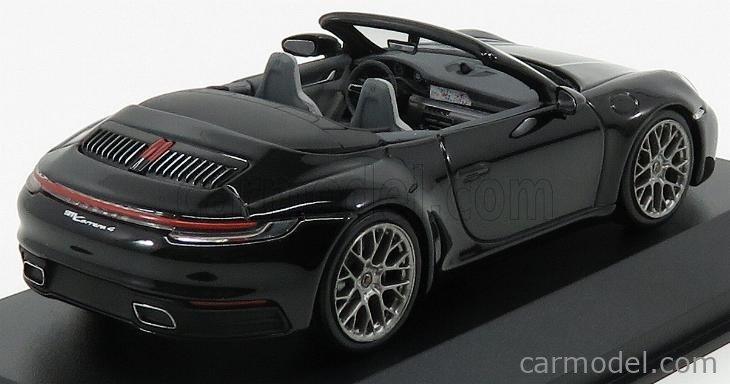 MINICHAMPS WAP0201770K Scale 1/43  PORSCHE 911 992 CARRERA 4 CABRIOLET 2019 BLACK