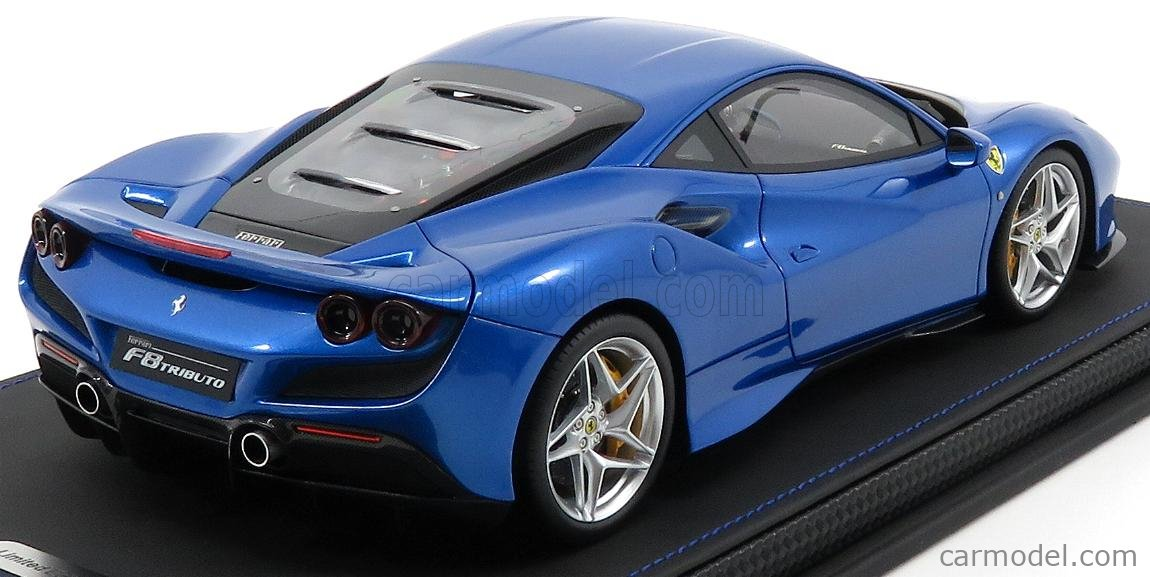 Bbr Models P18171b Scale 1 18 Ferrari F8 Tributo Salon De Geneve 2019 Blu Corsa Blue Met