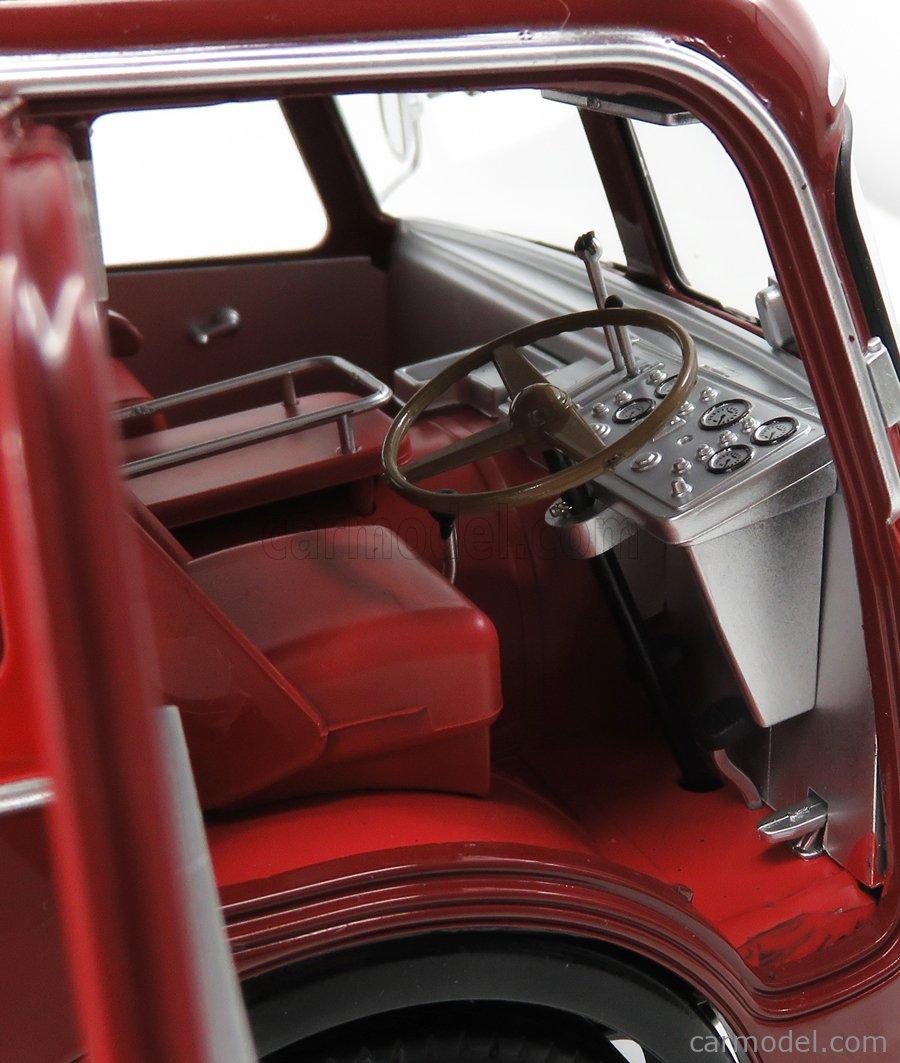 CMR CMR140 Scala 1/18  FIAT 642RN2 TRUCK BARTOLETTI F1 FERRARI CAR TRANSPORTER 1957 RED BORDEAUX