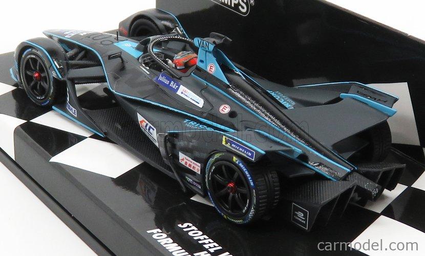 MINICHAMPS 414180005 Scale 1/43  BMW FORMULA-E VFE-05 TEAM VENTURI HWA RACELAB N 5 SEASON 2018-2019 S.VANDOORNE BLACK LIGHT BLUE