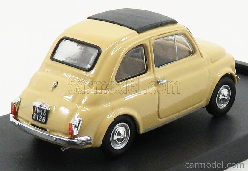 BRUMM R455-05-UPD Echelle 1/43  FIAT 500F TETTO CHIUSO CLOSED 1965 GIALLO TAHITI - YELLOW