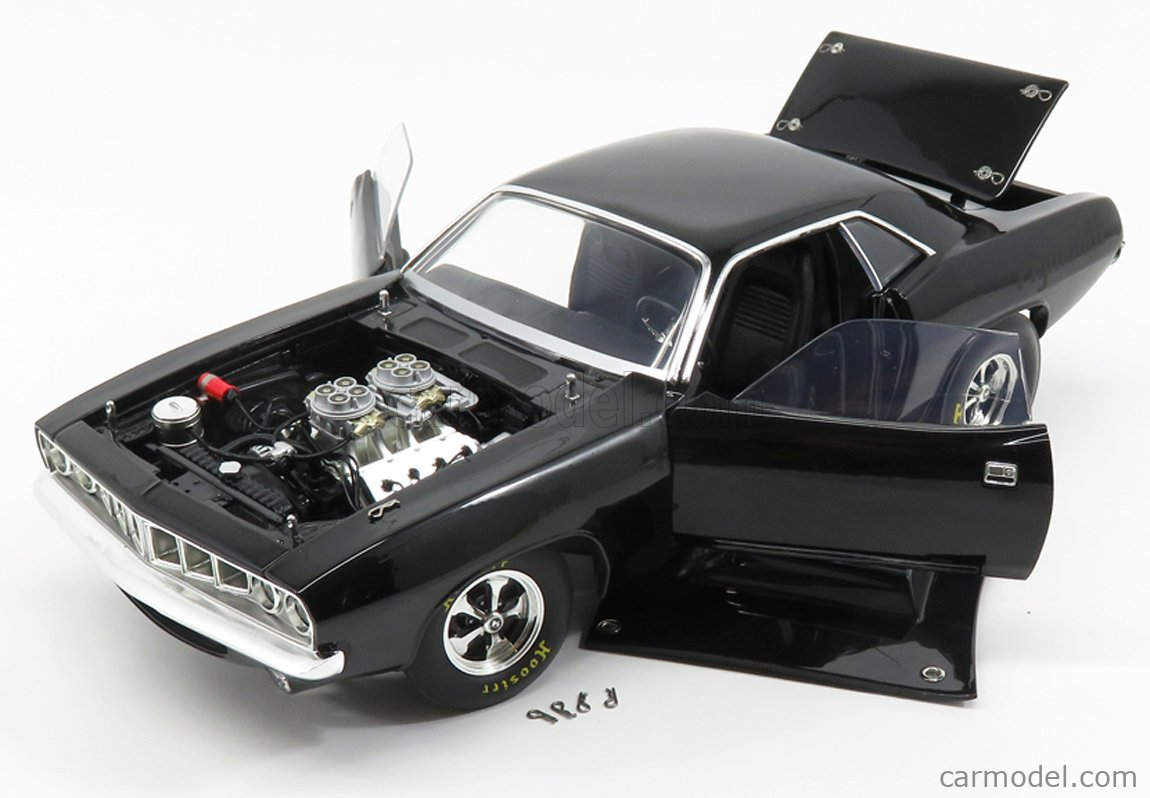 ACME-MODELS A1806110 Scale 1/18  PLYMOUTH CUDA DRAG COUPE 1971 BLACK