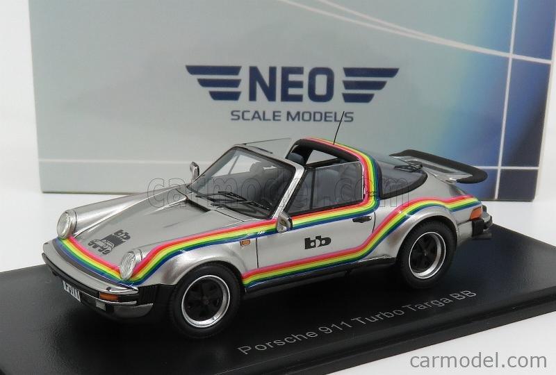 NEO SCALE MODELS NEO49593 Scale 1/43  PORSCHE 911 930 TURBO TARGA BB 1982 SILVER RED YELLOW BLUE