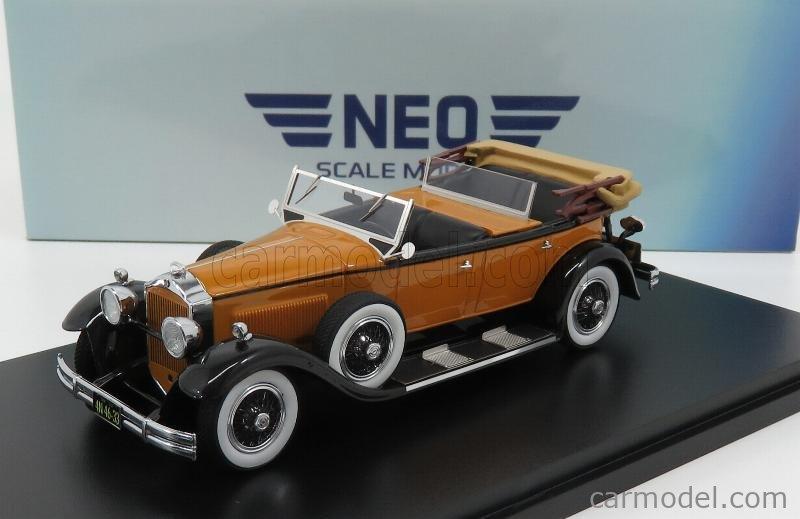 NEO SCALE MODELS NEO44633 Scale 1/43  PACKARD 733 STANDARD 8 SPORT CABRIOLET OPEN 1930 LIGHT BROWN BLACK