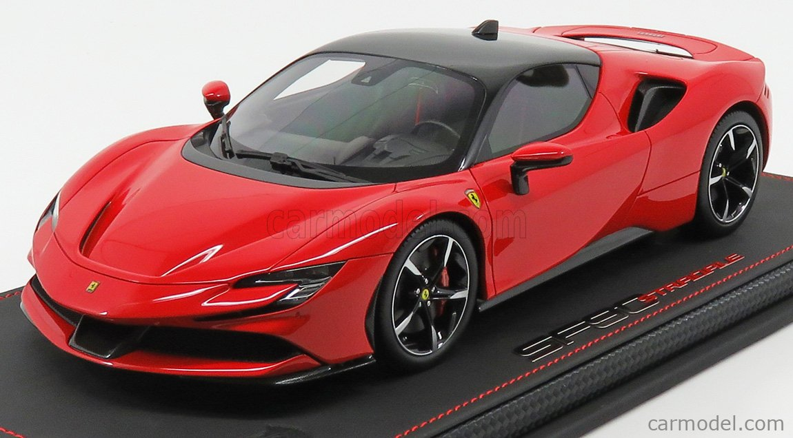 Bbr Models P18180a Scale 1 18 Ferrari Sf90 Stradale Hybrid 1000hp 2019 Rosso Corsa 322 Red