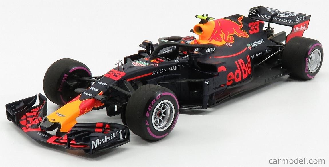 MINICHAMPS 110181933 Scale 1/18  RED BULL F1  RB14 TEAM ASTON MARTIN TAG HEUER N 33 WINNER MEXICO GP 2018 M.VERSTAPPEN MATT RED BLUE