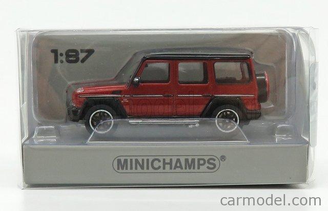 MINICHAMPS 870037004 Masstab: 1/87  MERCEDES BENZ G-CLASS G65 AMG 2015 RED MET BLACK