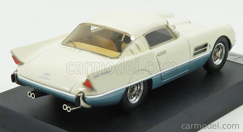 BBR-MODELS BBR40 Escala 1/43  FERRARI 410 SA SUPERFAST SALONE DI PARIGI 1956 IVORY BLUE MET