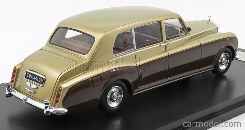 NEO SCALE MODELS NEO45341 Scala 1/43  ROLLS ROYCE PHANTOM VI EWB RHD 1968 GOLD BROWN
