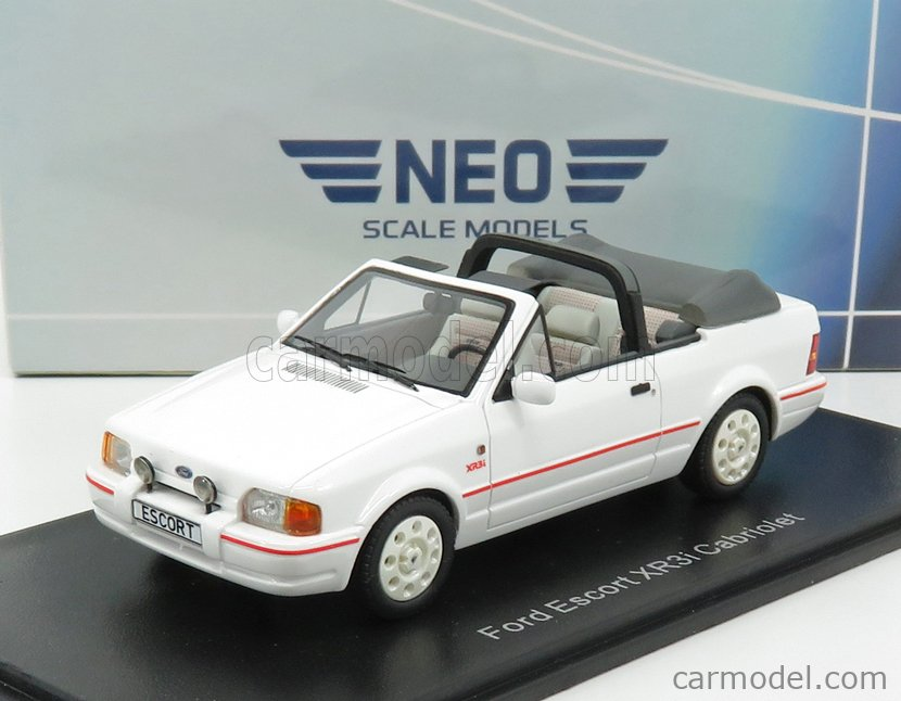 NEO SCALE MODELS NEO44956 Scale 1/43  FORD ENGLAND ESCORT XR3i MK IV CABRIOLET OPEN 1986 WHITE