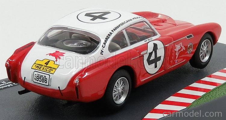 EDICOLA CENTFRCOL009 Масштаб 1/43  FERRARI 340 MEXICO ch.0222 VIGNALE COUPE N 4 RALLY CARRERA PANAMERICANA 1953 P.HILL - R.GINTHER RED