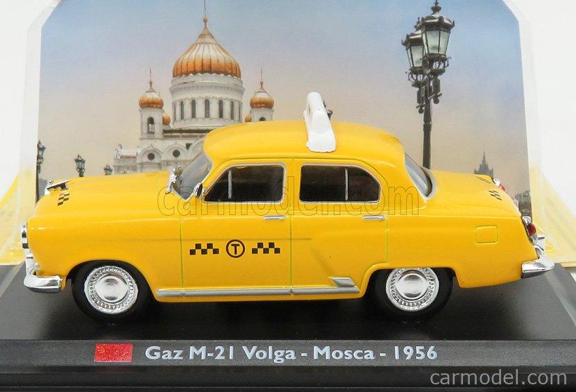 EDICOLA TAXCENTCOLL012 Scale 1/43  GAZ VOLGA M21 TAXI MOSCOW 1956 YELLOW