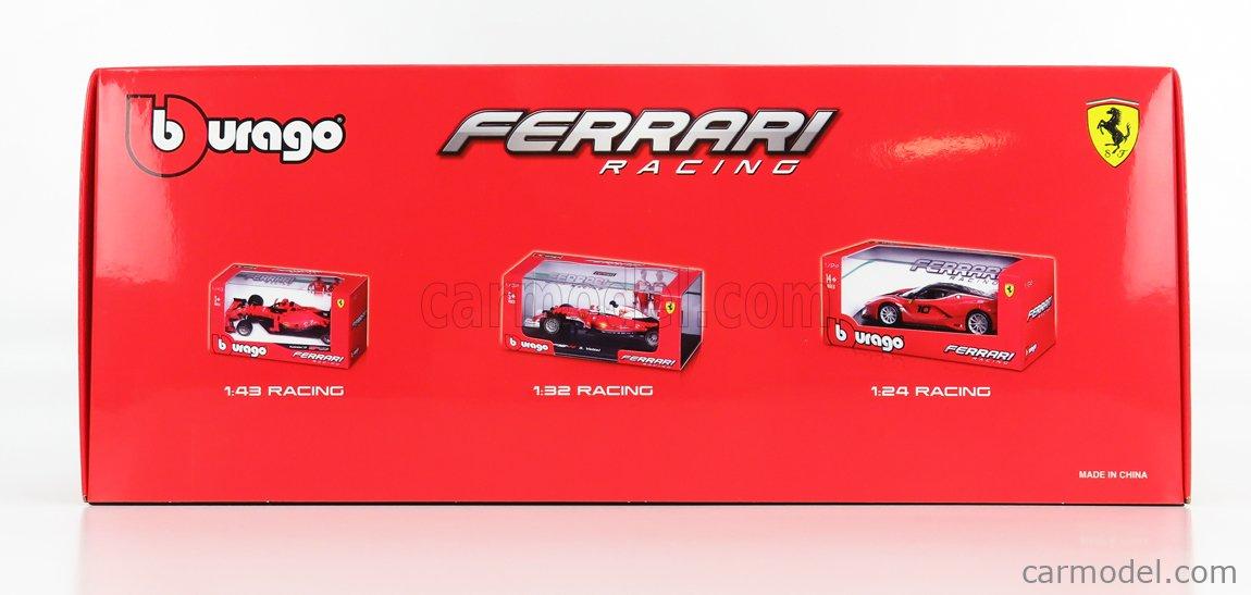 BURAGO BU16808LR Scale 1/18  FERRARI F1  SF1000 TEAM SCUDERIA FERRARI MISSION WINNOW N 16 2nd AUSTRIAN GP 2020 C.LECLERC - WITH SOFT RED WHEELS MATT RED