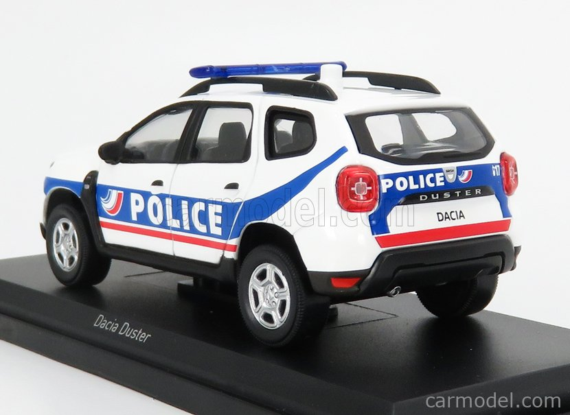 NOREV 509010 Echelle 1/43  DACIA DUSTER POLICIE NATIONALE 2018 WHITE BLUE