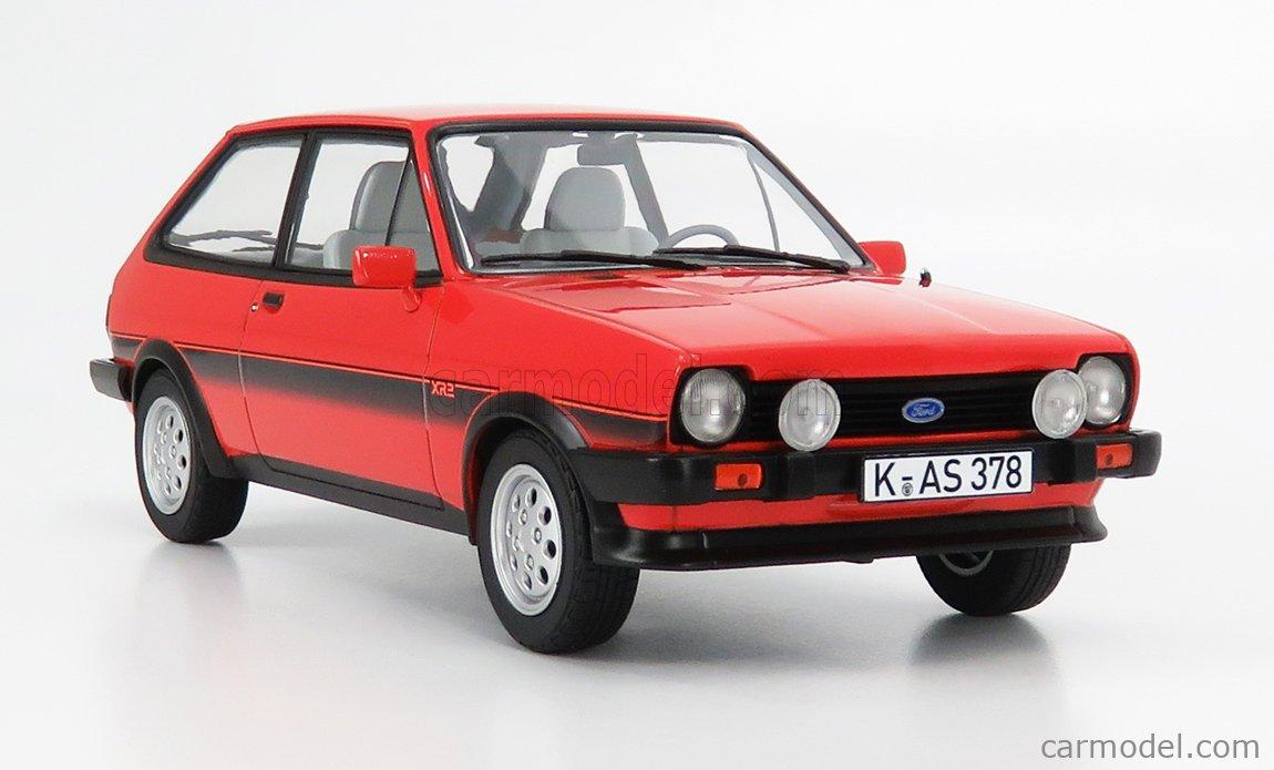 Neuf Norev 1:18 182741 1981 Ford Fiesta XR2 Rouge