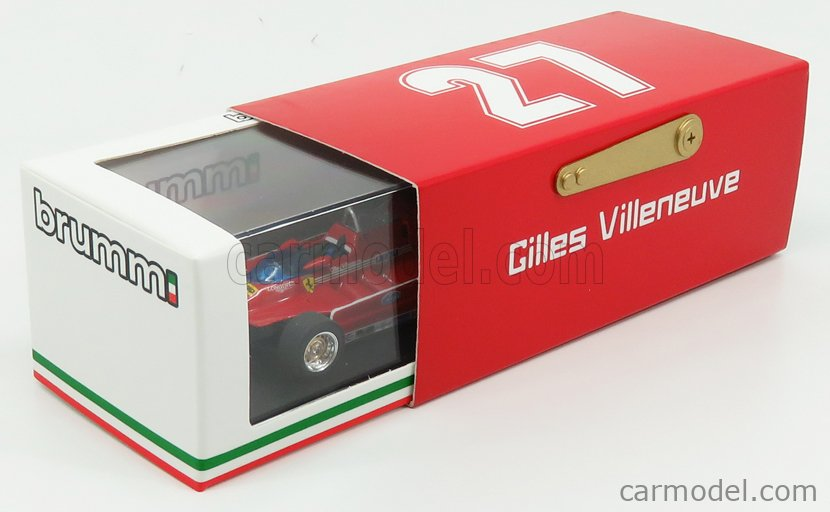 BRUMM R447-UPD Echelle 1/43  FERRARI F1  126C TURBO N 2 PRACTICE ITALY IMOLA GP 1980 GILLES VILLENEUVE RED