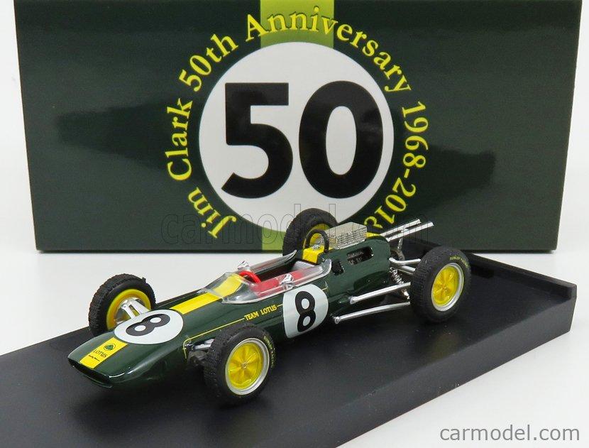 BRUMM R332-UPD Echelle 1/43  LOTUS F1  25 N 8 WINNER ITALY GP JIM CLARK 1963 WORLD CHAMPION - 50th ANNIVERSARY 1968 - 2018 GREEN