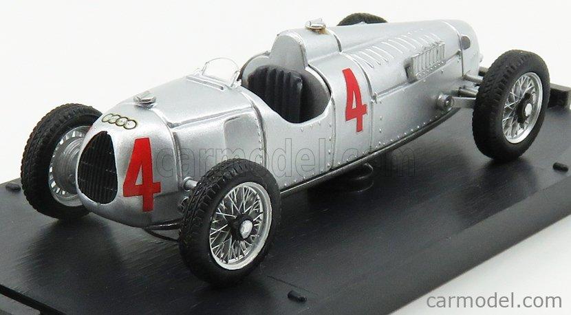 BRUMM R038-UPD Echelle 1/43  AUTO UNION F1  TIPO C N 4 WORLD CHAMPION 1936 BERND ROSEMAYER SILVER