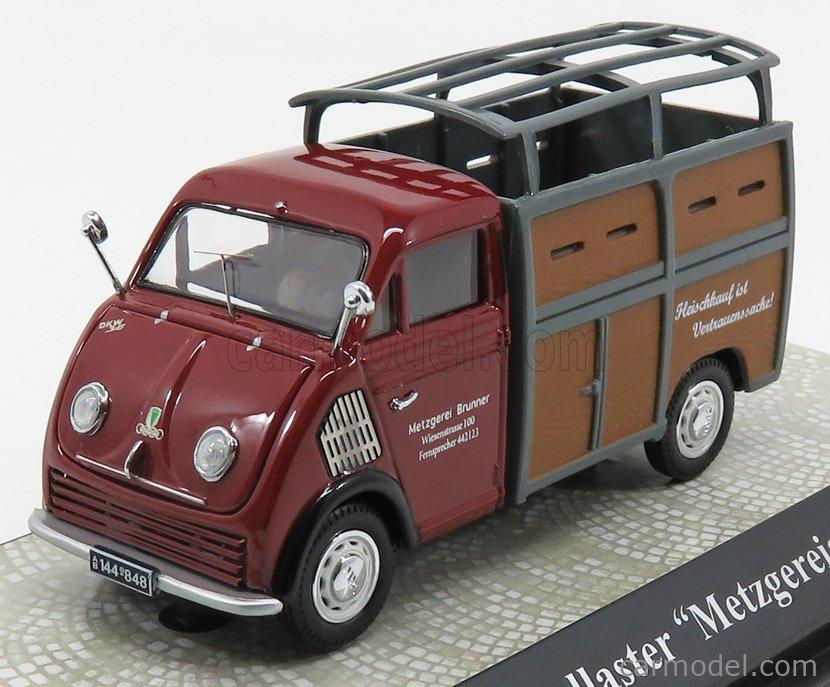 PREMIUM CLASSIXXS 13625 Masstab: 1/43  DKW F89 SCHNELLASTER LIVESTOCK 1957 - TRASPORTO ANIMALI BORDEAUX GREY WOOD