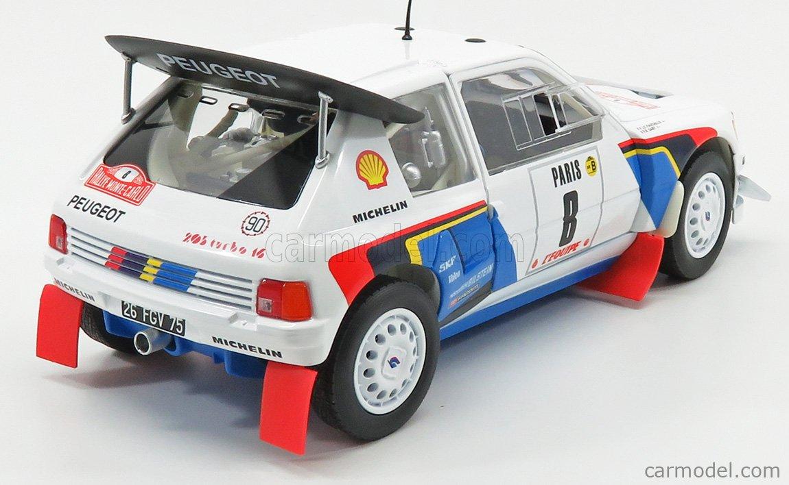 PEUGEOT 205 T16 n/°8 Rallye MONTE CARLO 1986 1//18 Saby