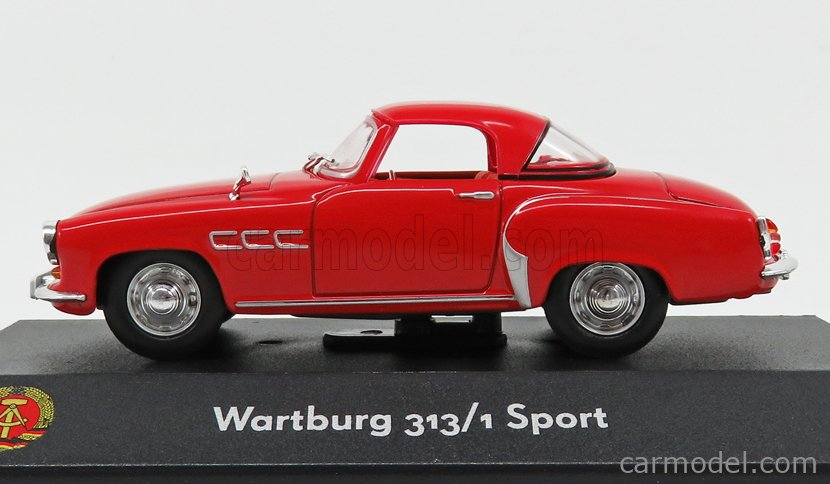 EDICOLA 7230021 Scale 1/43  WARTBURG 313 SPORT 1957 RED