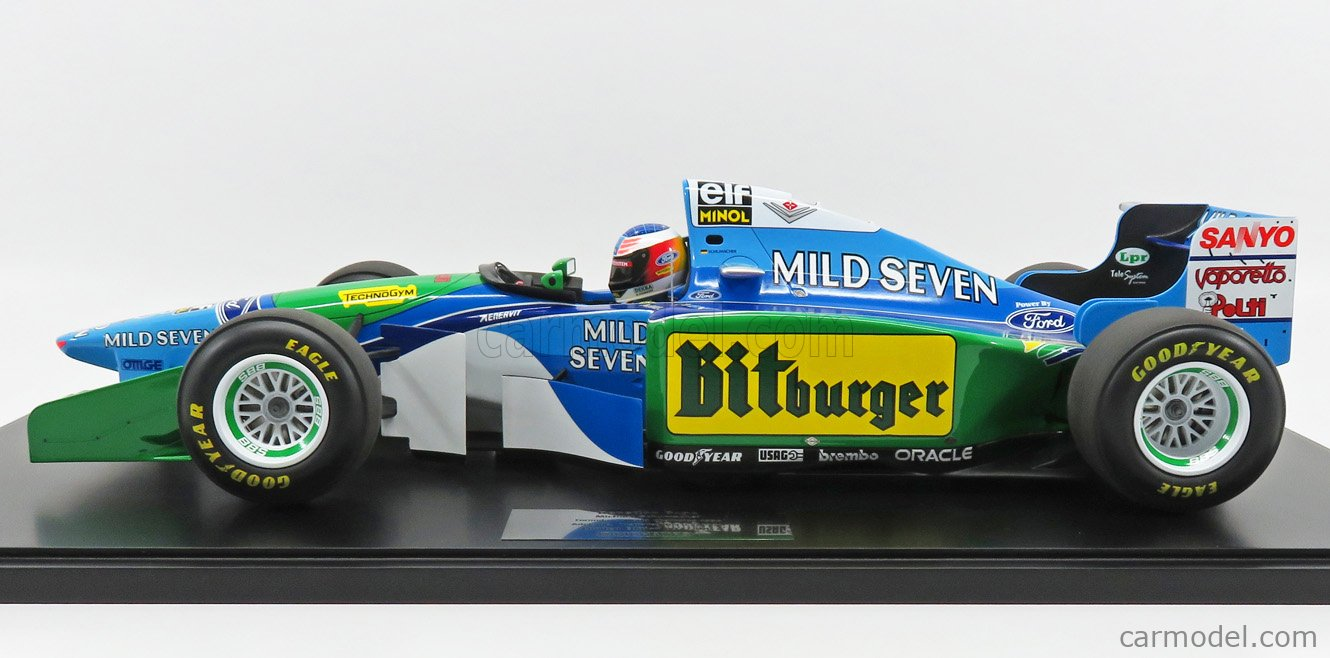 MINICHAMPS 851941605 Escala 1/8  BENETTON F1  B194 FORD N 5 MICHAEL SCHUMACHER AUSTRALIAN GP 1994 WORLD CHAMPION BLUE GREEN
