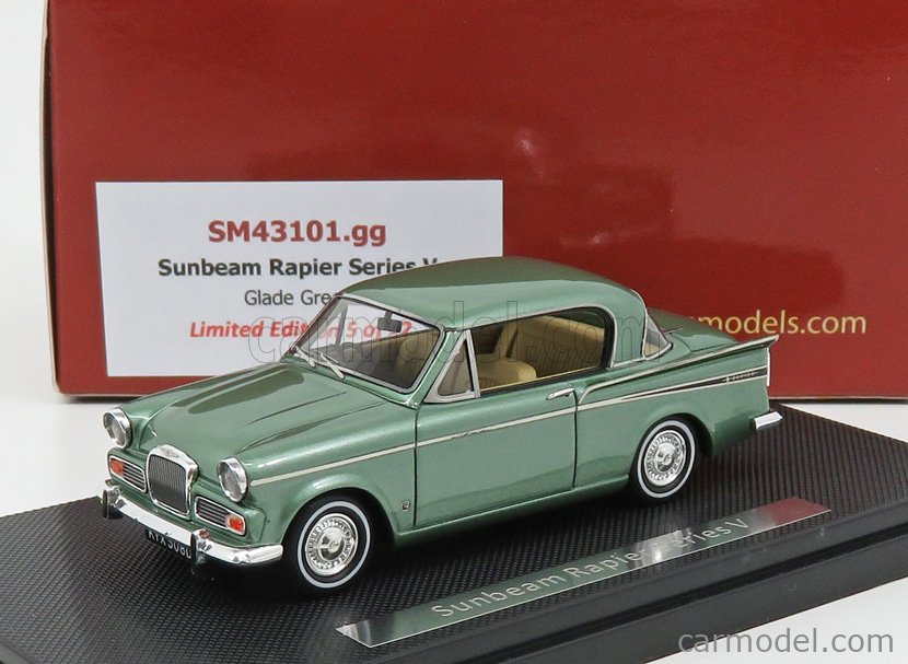 SILAS SM43101GG Scale 1/43  SUNBEAM RAPIER V SERIES 1966 GLADE GREEN MET