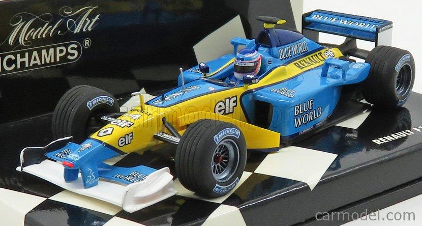 RENAULT F1 TEAM R202 GP 2002 J TRULLI MINICHAMPS 1:43