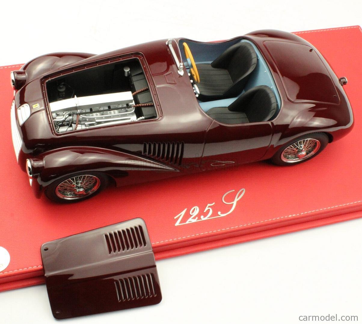 Modelcarswholesale F125bor Masstab 1 12 Ferrari 125s 1947 With Openable Front Bonnet Bordeaux