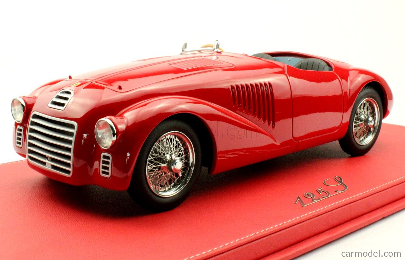Modelcarswholesale F125red Masstab 1 12 Ferrari 125s 1947 With Openable Front Bonnet Red