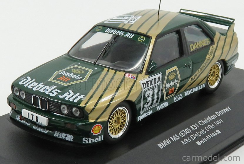 CMR CMR43035 Escala 1/43  BMW 3-SERIES M3 (E30) DEKRA N 31 DTM SEASON 1991 C.DANNER GREEN GOLD