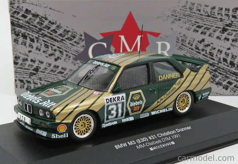 CMR CMR43035 Scala 1/43  BMW 3-SERIES M3 (E30) DEKRA N 31 DTM SEASON 1991 C.DANNER GREEN GOLD