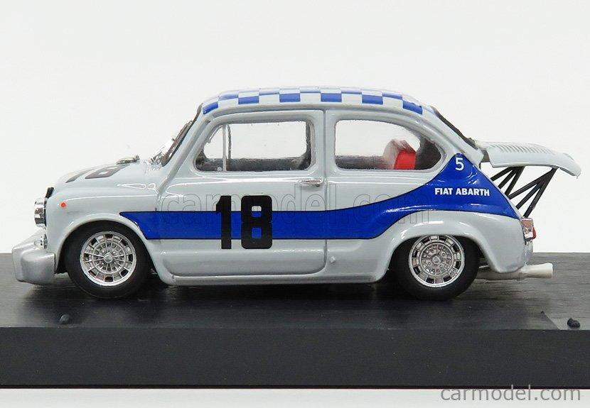 BRUMM R381-UPD Escala 1/43  FIAT 600 ABARTH 1000 BERLINA N 18 WINNER 4h MONZA 1968 A.MERZARIO GREY BLUE