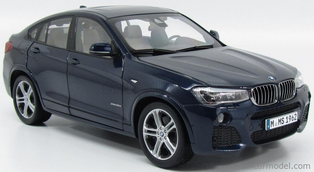 PARAGON-MODELS 97092 Scale 1/18  BMW X4 XDRIVE 3.5d (F26) 2014 IMPERIAL BLUE MET