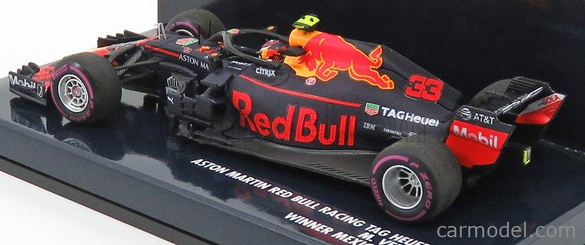 MINICHAMPS 410181933 Scale 1/43  RED BULL F1  RB14 TEAM ASTON MARTIN TAG HEUER N 33 WINNER MEXICO GP 2018 M.VERSTAPPEN MATT RED BLUE