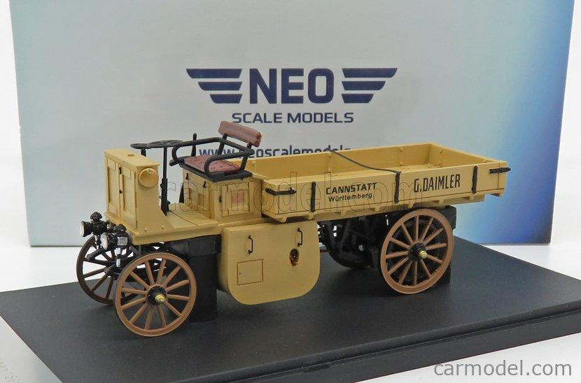 NEO SCALE MODELS NEO43206 Scale 1/43  DAIMLER LASTWAGEN 1898 BEIGE